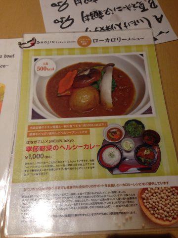 季節野菜のヘルシーカレー(1,000円)
